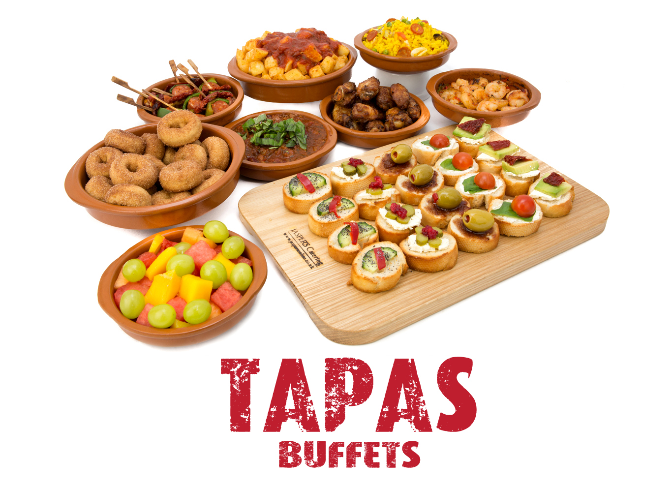 Jaspers tapas buffet menus for Catering companies
